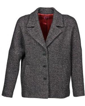 Szary płaszcz przeciwdeszczowy Bensimon