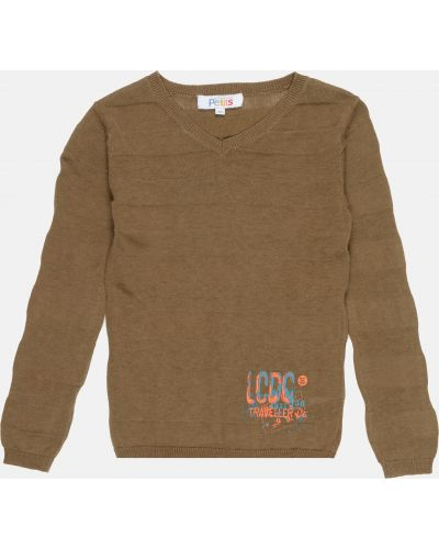 Зеленый свитер с вышивкой Lcdp