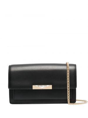 Кожаная сумка через плечо - черная Michael Michael Kors