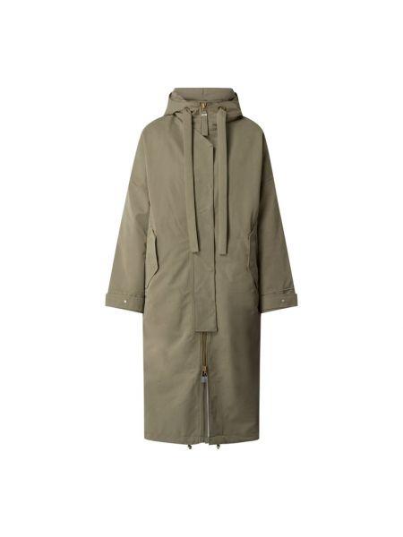 Zielony płaszcz z kapturem G-lab