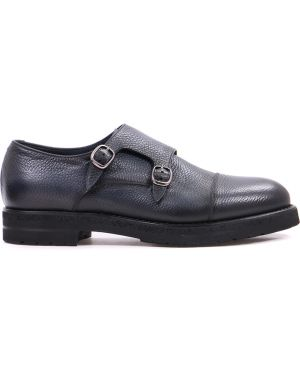 Байковые туфли на толстой подошве с пряжкой на каблуке круглые Franceschetti