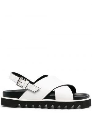 С ремешком белые кожаные сандалии P.a.r.o.s.h.