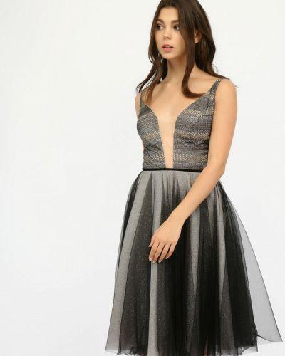 Черное вечернее платье Miodress