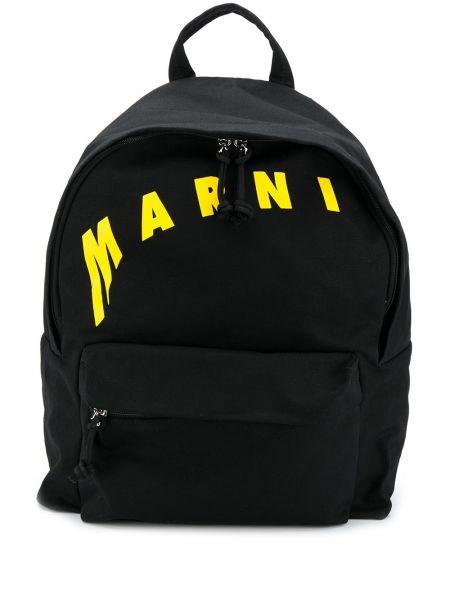 Plecak bawełniany - czarny Marni