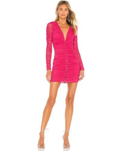 Różowa sukienka z siateczką Superdown