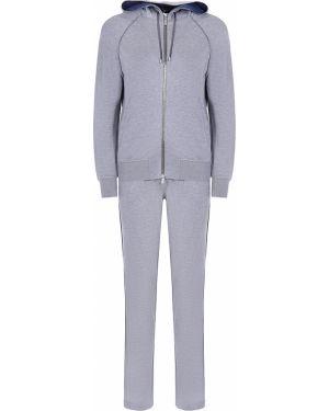 Серый спортивный костюм с поясом на молнии Capobianco