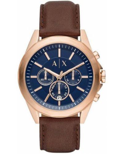 Beżowy zegarek elegancki Armani Exchange