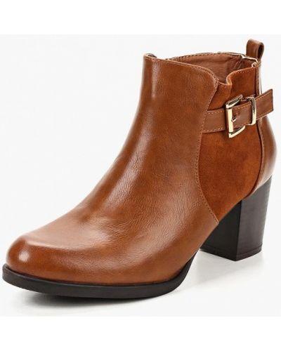 Кожаные ботильоны на каблуке Style Shoes