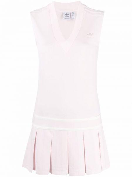Платье с V-образным вырезом - розовое Adidas