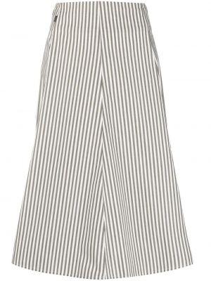 Прямая белая с завышенной талией юбка Woolrich