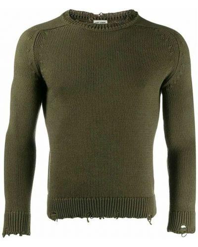 Sweter - zielony Saint Laurent