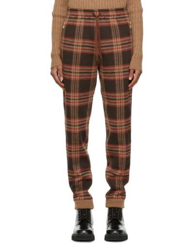 Коричневые брюки с карманами с манжетами Gucci