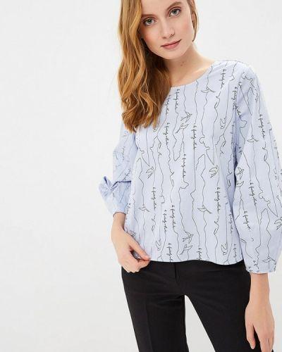Голубая блузка с длинным рукавом Sela