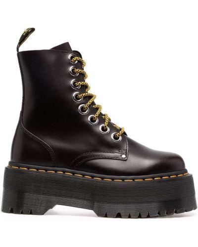 Черные резиновые ботинки Dr Martens