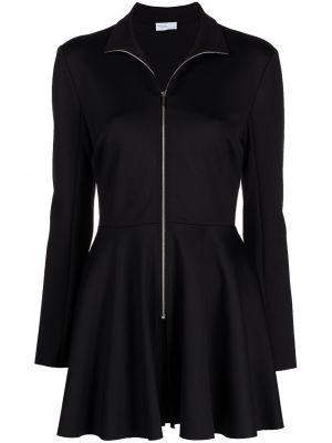Черная длинная куртка с воротником с длинными рукавами Rosetta Getty
