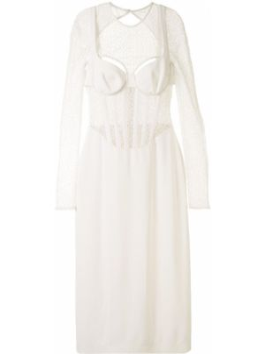 Платье миди с открытой спиной со вставками Dion Lee