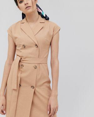 Приталенное платье мини двубортное эластичное Cardo