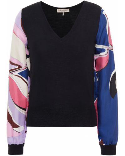 Шерстяной свитер - черный Emilio Pucci