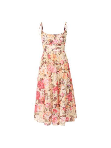 Платье миди с завышенной талией с поясом Zimmermann