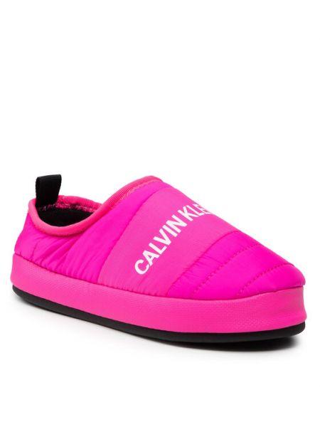 Kapcie - różowe Calvin Klein Jeans