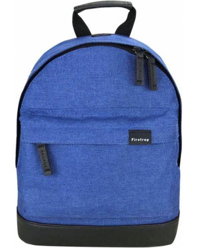 Niebieski plecak skórzany z printem Firetrap