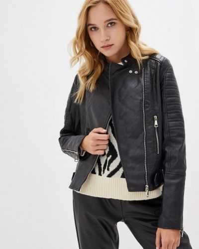 Кожаная куртка осенняя черная Z-design