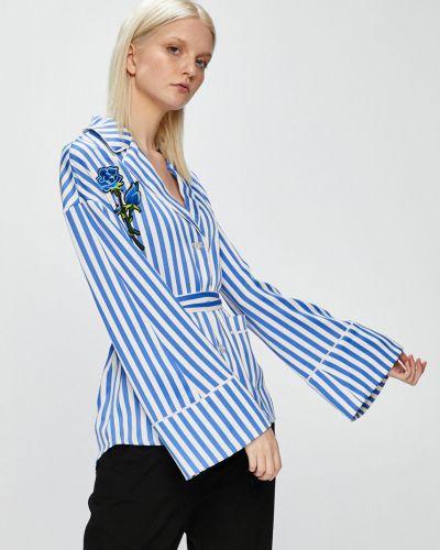 Блузка прямая в полоску с V-образным вырезом с длинным рукавом Silvian Heach