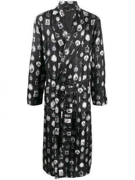 Носки с принтом высокие черные Dolce & Gabbana