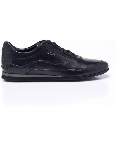Кожаные кроссовки текстильные на шнуровке Joop!