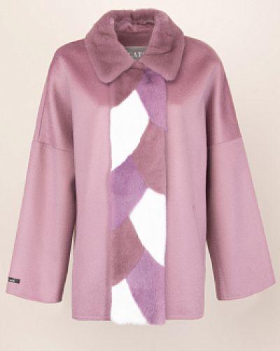 Прямое шерстяное пальто с воротником Alcato