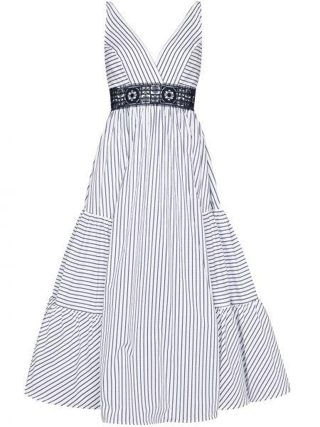 Тонкое платье миди на бретелях с V-образным вырезом на молнии Silvia Tcherassi