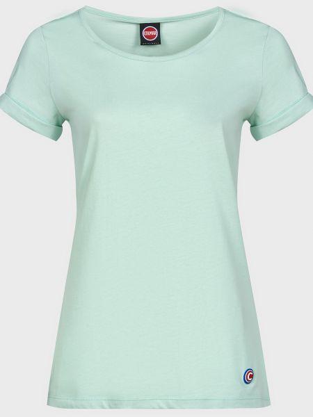 Хлопковая зеленая футболка Colmar Originals