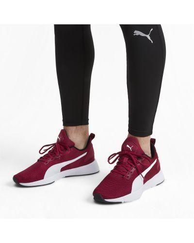 Белые кроссовки беговые для бега сетчатые на шнуровке Puma