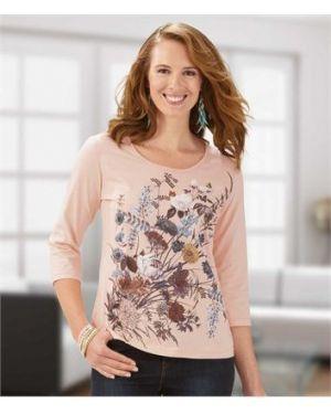 Блузка розовая с рукавом 3/4 Atlas For Men