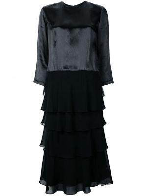 Платье миди винтажная черное Comme Des Garçons Pre-owned