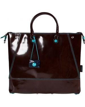 Кожаная сумка - коричневая Gabs