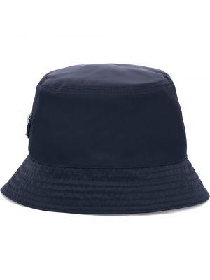 Niebieski kapelusz materiałowy Prada