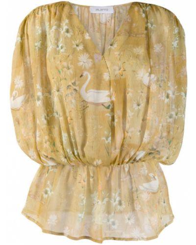 Блузка прозрачная с поясом Ailanto