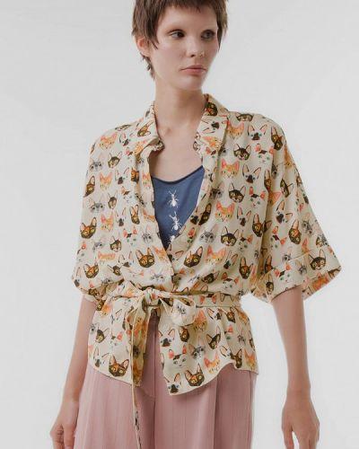 Блузка с длинным рукавом весенний бежевый Lo