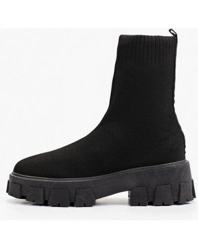 Черные зимние полуботинки Sweet Shoes