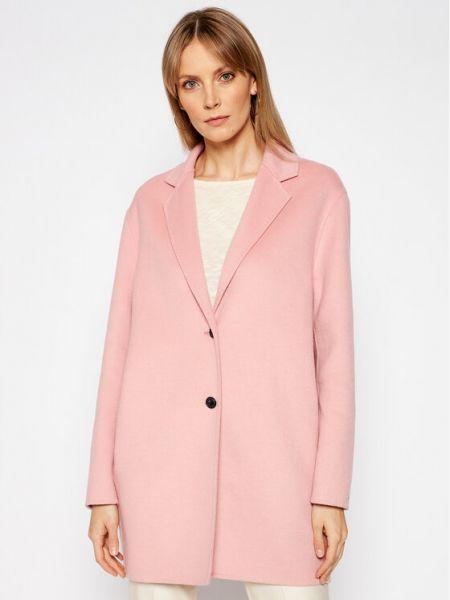 Różowy płaszcz wełniany Tommy Hilfiger