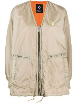 Нейлоновая куртка на молнии с манжетами с вырезом Marcelo Burlon. County Of Milan