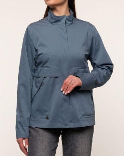 Хлопковая синяя куртка с воротником D`imma