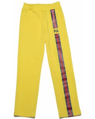 Żółte spodnie Palm Angels