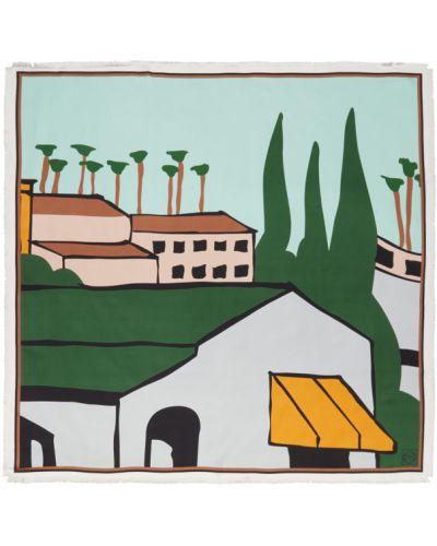 Черный шелковый шарф квадратный Loewe