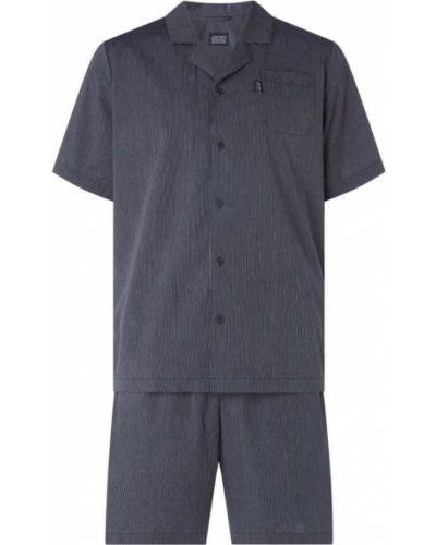 Piżama zapinane na guziki - niebieska Jockey