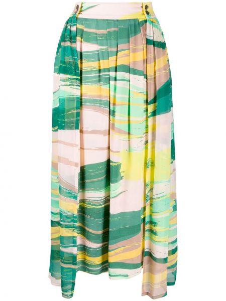 Асимметричная юбка миди в рубчик Frenken