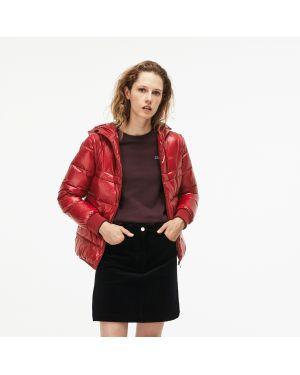 Куртка с капюшоном утепленная на молнии Lacoste