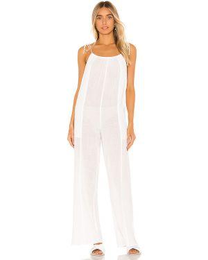 Biały strój kąpielowy dwuczęściowy bawełniany na plażę Tori Praver Swimwear