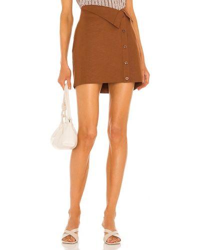 Джинсовая юбка мини - коричневая L'academie